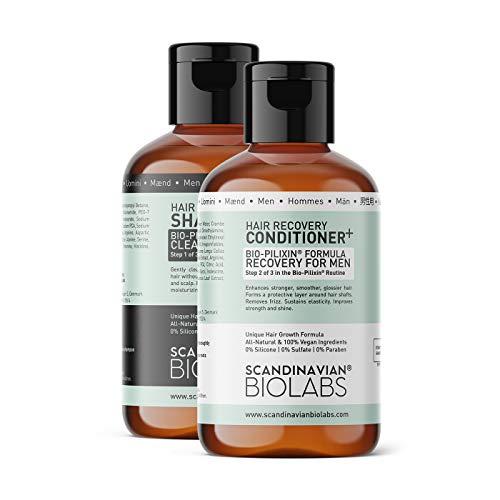 Scandinavian Biolabs Hair Strength Shampoo und Hair Recovery Conditioner für Männer | Natürliche Formel zur Stärkung des Haares mit einer sanften Reinigung | Befeuchtet...