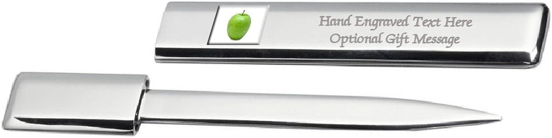 Engraved Post Letter Opener Fruit Green Apple