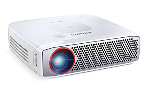 Philips PPX4835 Pocket Projector, 350 Lumens, LED, 720p, HDMI, USB, 120' Display