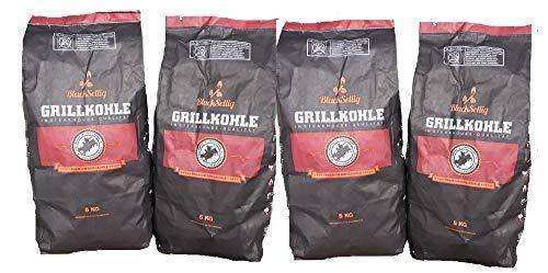 BlackSellig 4 x 5 kg Steakhousekohle reines Quebracho Blanco Holz Grillkohle-perfekte Restaurantqualität