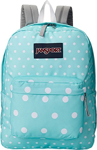 JANSPORT Superbreak 25L Backpack Aqua Dash Spots, One Size