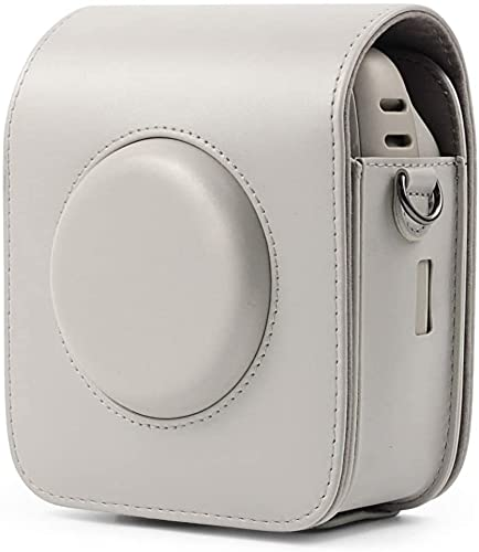 BBGSFDC Caméra complète Caméra PU Cuir PU Sac avec Bracelet pour Fujifilm Instax Square SQ20 (Color : Black)