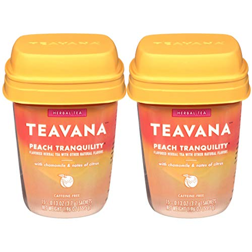 Teavana Peach Tranquility Herbal Tea, 15 Sachets (Pack of 2)