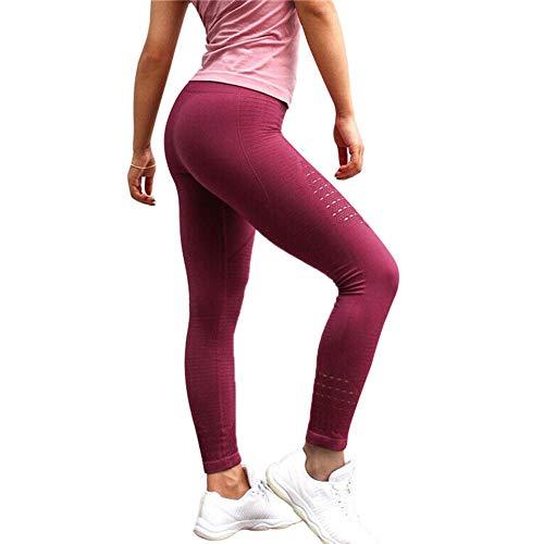 Vrouwen Yoga Leggings Anti-Cellulite Slim Compressie Holle Hoge Taille Broek S Rood