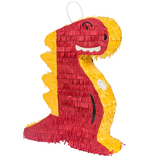Dinosaur Pinata, Mexican Pinata with Hanging Loop for Cinco De Mayo Decorations, Colorful Festival Party Favor Supplies, Cartoon Pinatas for Kids Birthday Party Game