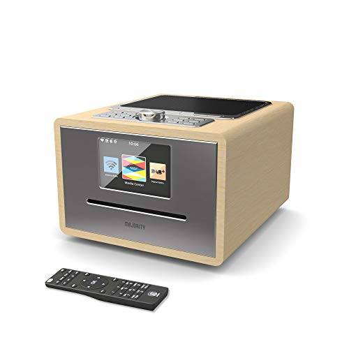 Majority Homerton Digital DAB/DAB+/FM and Internet Radio Wi-Fi - CD Player,...