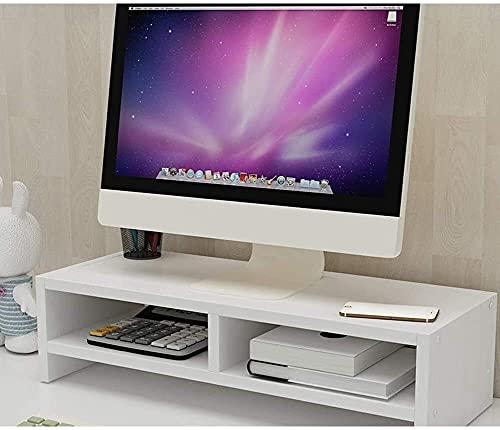 DAGCOT Ordenador portátil Tabla 1 Nivel Soporte del Monitor de TV de Madera Ordenador PC de Escritorio for Monitor Vertical del Organizador del almacenaje del Grano de Madera Amarillo