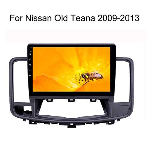 LFEWOZ Nav para Nissan Teana Viejo 2009-2013 Dispositivo de navegación con Estéreo 10.1 Pulgadas con Pantalla táctil Android WiFi/BT Compartir Internet Soporte para SD 64g navegación del Coche
