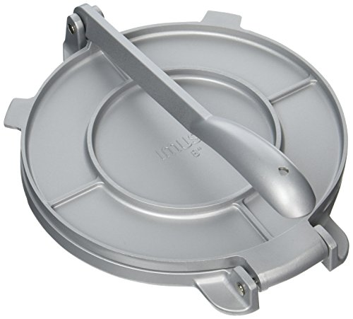of tortillas leading brands only IMUSA USA MEXI-86009M Cast Aluminum Tortilla & Roti Press 8-Inch, Silver