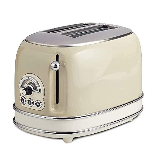 Dpliu Tostadora automática 2 Piezas Home Hornear Máquina de Pan Tostadora, 680W (Color : Beige)