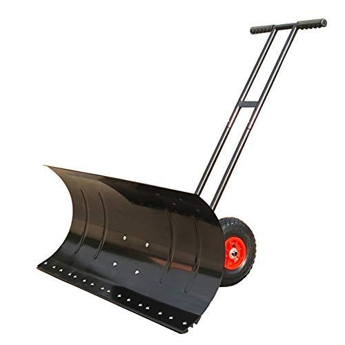 Rollende fahrbare Schneeschieber Heavy Duty Schneeschaufel Schnee Mover mit justierbarer Handgriff & Groß Plow, Schneeschieber für Garten Innenhof Doorway Auffahrt Pavement