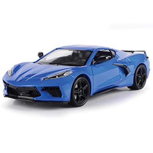 2020 Chevrolet Corvette C8 Stingray Blue Metallic Timeless Legends 1/24 Diecast Model Car by Motormax 79360