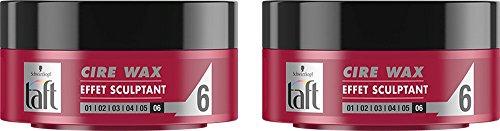 Taft - Cire Cheveux - Cire Wax Effet Sculptant - 75 ml - Lot de 2