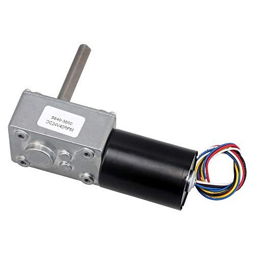 Micro DC Worm Gear Box Motor Haute Vitesse de Couple R/éduire Turbine 12V 27RPM