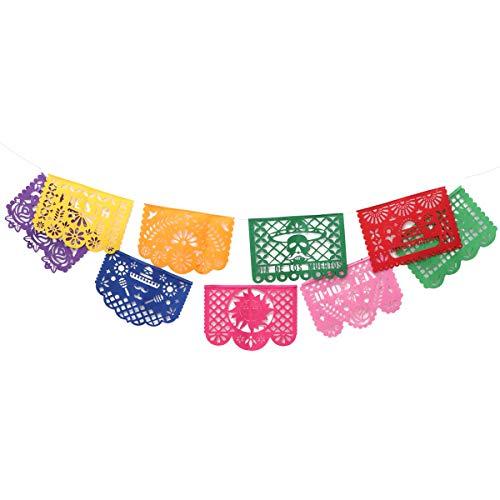 Amosfun Mexican Banner Dekorationen Papel Picado Banner für Festival