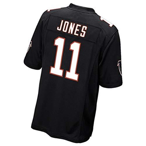 11# Julio Jones Männer Rugby Trikot Fußball Trikot Polo Shirts-Atlanta Falcons Wide Receiver Athlete Jersey Mesh Schnell trocknend Langarm Fans Sweatshirt, M