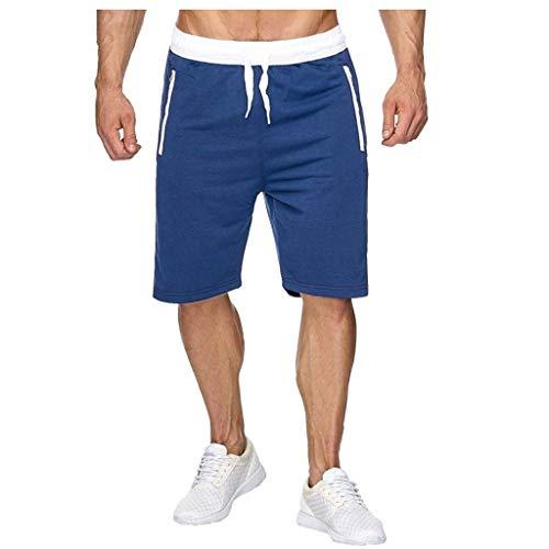 serliy Männer Shorts Kurze Herren Jogginghose Sweatpants Bermuda Sport Shorts Sweat Short Baumwolle Chino Slim Stoffhose Freizeithose Cargo Hosen Kurz Freizeit Short