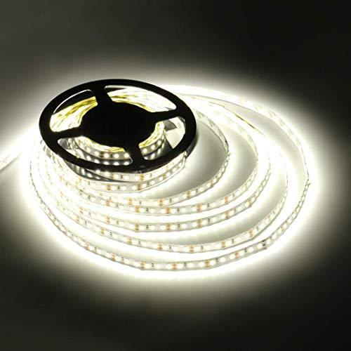LEDMO led Stripes Streifen kaltweiß 5m,led band Leiste Lichtleiste SMD 2835,led strip 600 leds 9000LM IP20 für Küchenschrank Schlafzimmer Startseite dekorative Beleuchtung