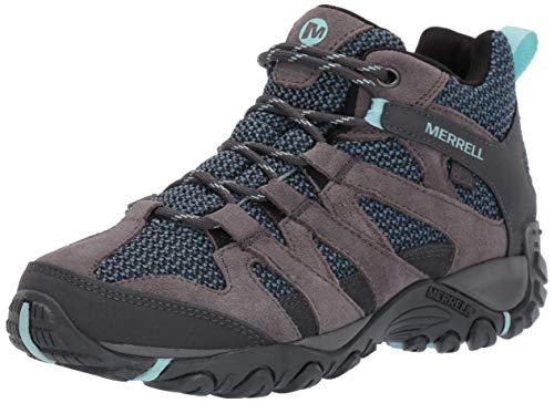 Merrell Women's ALVERSTONE MID Waterproof Hiking Shoe, Charcoal, 07.5 M US