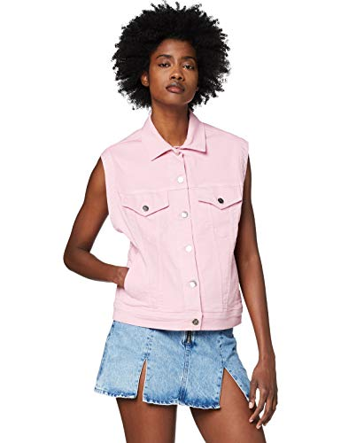 Pepe Jeans Winona Colour Chaleco, Rosa (Chewing Gum 334), Small para Mujer