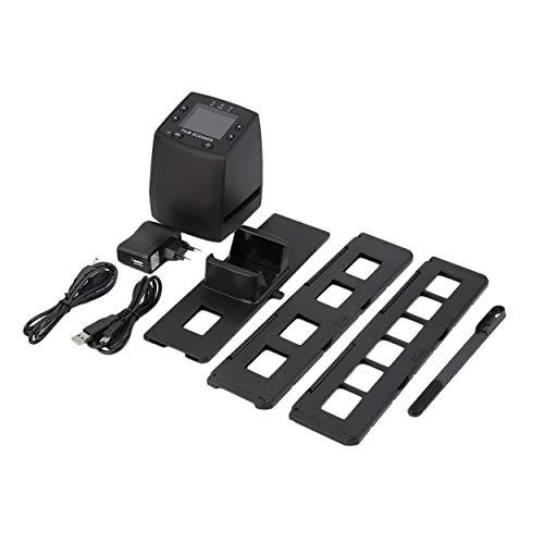 Lorenlli Escáner Digital de Alta resolución Convierte Negativos en USB Diapositivas Escaneo fotográfico Convertidor de película Digital portátil 2.4 Pulgadas LCD