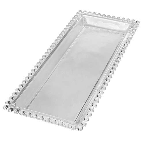 Dibor Glass Serving Bowl Tray Rectangular Serving Platter (CF21)