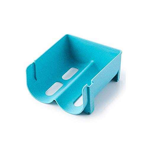 XKMY Cajones para refrigerador, 2 unidades, caja de almacenamiento para bebidas, dispensador de latas anticaída, estante de vidrio para botellas de cerveza (color: azul, número de niveles: 1 unidad)