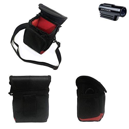 K-S-Trade® Bolsa De Cámara Funda Protectora De Hombro Accesorios para Contour Roam 3 con Compartimento Adicional Externo Estuche Caméra Digital