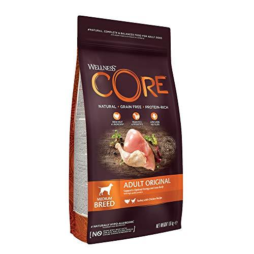Wellness CORE Adult Original, Hundefutter trocken, getreidefrei, mit hohem Fleischanteil, Pute & Huhn, 1,8 kg