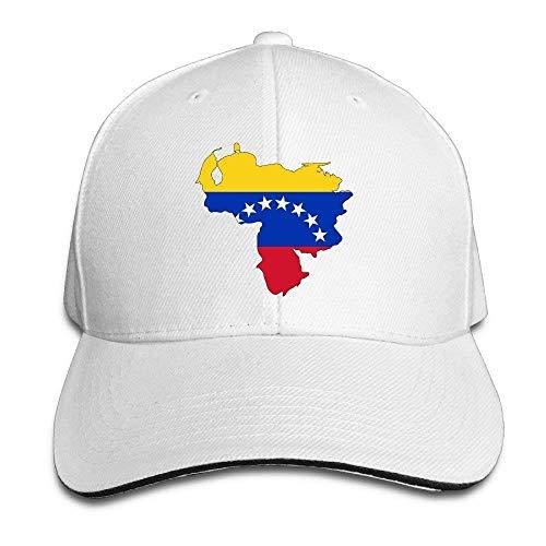 Bgejkos Mapa de la Bandera de Venezuela Algodón Sándwich para Adultos Gorra de Pico Sombrero Deportivo Regalo QW344