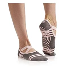 BALLET INSPIRED DESIGN: Barre socks feature crisscross top straps that help to keep the yoga socks in place and prevent them from sliding around on your feet while in use - ideal for Barre, Hot Yoga, Pilates, Dance or other floor and gym exercises HY...