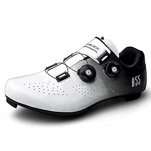 Cacagie Zapatillas de ciclismo para hombre y mujer Spin Ring SPD para ejercicio al aire libre e interior, hombres y mujeres compatibles con tacos Delta Look 36-47, plateado, 40 EU