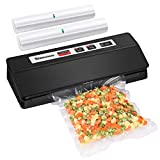 Vacuum Sealer Machine, Slaouwo Automatic Food Sealer for Food Savers, Compact Vacuum Packing