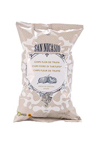San Nicasio Patatas Fritas Flor de Trufa Caja - 14 bolsas de 150 gr