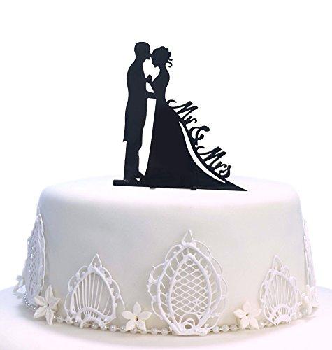 Decoración para tarta de boda con texto en inglés'Mr Mrs Cake', acrílico duro, para boda, para novia, novia, aperitivos, etc. C