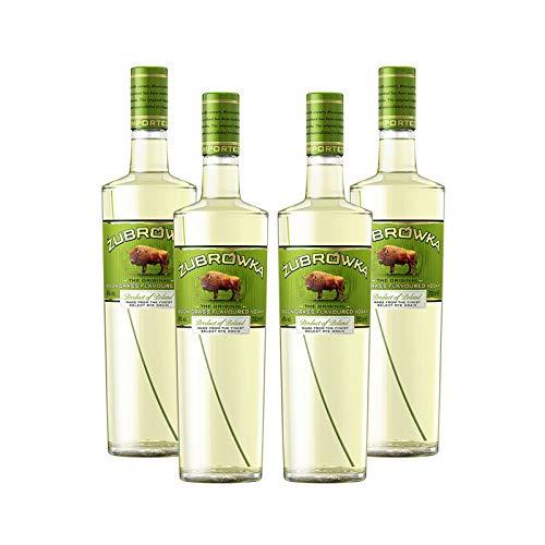 Vodka Zubrowka de 70 cl - D.O. Polinia - Bodegas Osborne (Pack de 4 botellas)