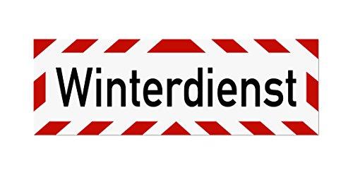 LOHOFOL Magnetschild Winterdienst | Schild magnetisch | lieferbar in DREI Größen (65 x 20 cm)