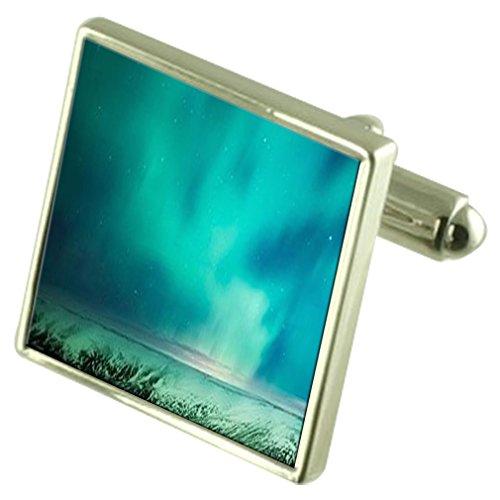 Select Gifts Aurora Borealis Stars de manchette avec poche