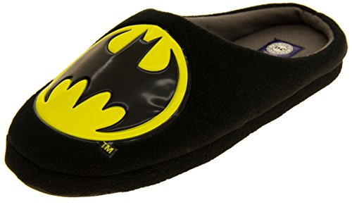 Hombre Batman Negro Textil Fleece Mule Zapatillas EU 44