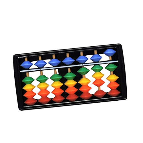 Ábaco para niños Material ABS Mano de obra de Seiko Fácil de transportar Herramientas de cálculo retro coloridas Juguetes educativos para la primera infancia Adecuado para niños mayores de 3 a