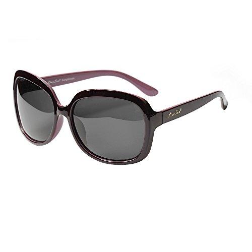 LianSan Women's Oversized Polarized Sunglasses Lsp301 (Polarized Purple)