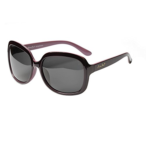 LianSan Women's Oversized Polarized Sunglasses Lsp301 (Polarized Purple)