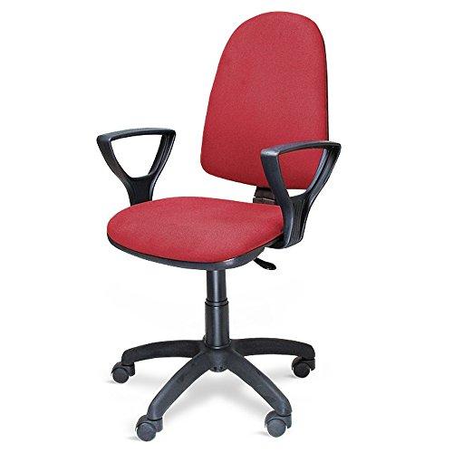 METALCHAISE Poltrona sedia ufficio con ruote altezza regolabile studio casa ROSSA 301/T/R