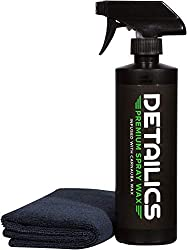 Image of Detailics Car Wax Kit - Best Spray Wax & Top Coat Car Polish & Hybrid Wax - Enriched with Liquid Carnauba for a Deep Hydrophobic Mirror Shine on Any Surface - 16 Ounce Car Detailing Kit (16oz): Bestviewsreviews
