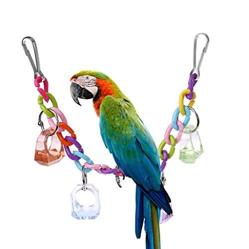 N/K PULABO Acryl Papagei Schaukel Spielzeug, Vögel Barsch Ständer Halter, Sittich hängen Käfig Kette Dekoration praktisch und beliebt