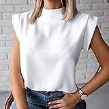 DYXYH Mujer Blusa Camisa Verano Casual Soporte Soporte Pullover Elegante Mujeres Tops Damas Blusa de Moda Manga Corta (Color : A, Size : XL Code)