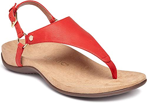 Vionic Women's Rest Kirra Backstrap Sandal - Ladies Sandals with Concealed Orthotic Arch Support Cherry 5 Medium US