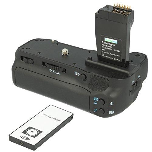 Akku-King Batteriegriff kompatibel mit Canon EOS 750D, 760D, IX8, T6S, T6I - ersetzt BG-E18 - inkl. IR-Fernbedienung