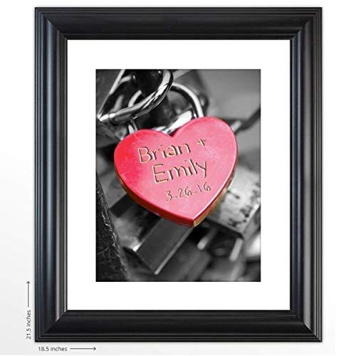 Rac76yd llave de regalo de boda personalizada para mi corazón regalo para la novia y el novio, impresión incluye nombres y fecha especial