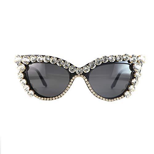 Vintage Retro Cat Eye Sunglasses Rhinestone Crystal Sparkle For Women